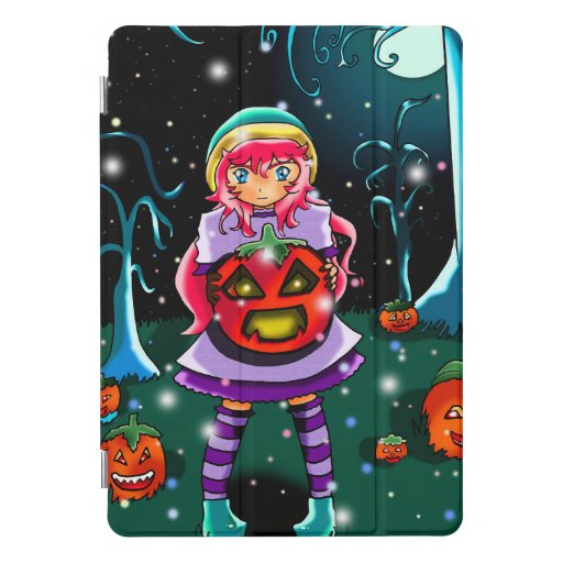 Halloween forest of anime style iPad pro cover
