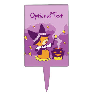 Halloween Fox Witch Summoning Candy Cake Topper