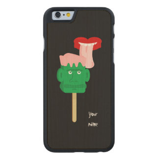 Halloween Frankenstein Ice Block Carved Maple iPhone 6 Case