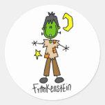 Halloween Frankenstein Stick Figure Sticker