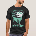 Hand shaped Halloween Frankenstein t-shirt