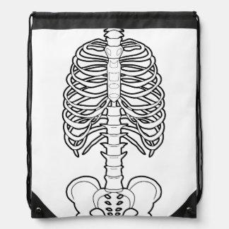 Halloween frecuentado esqueleto mochila