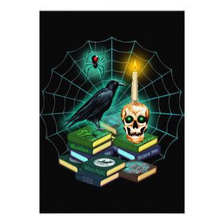 "Halloween frecuentado invitación 5"" x 7"""