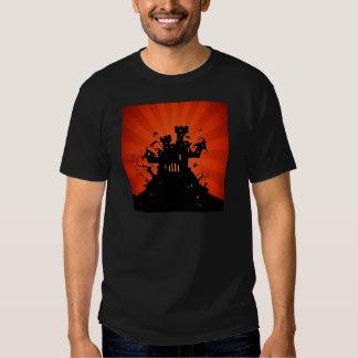 Halloween frecuentó el castillo camisas