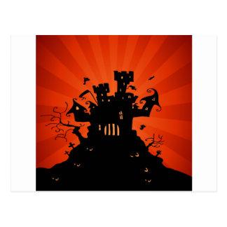 Halloween frecuentó el castillo postales