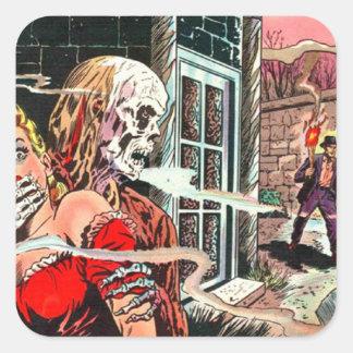 Halloween frecuentó el cómic pegatina cuadrada