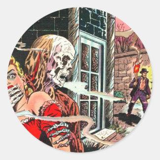 Halloween frecuentó el cómic pegatina redonda