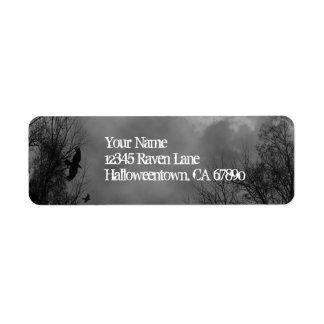 Halloween frecuentó etiquetas del remite del cielo etiqueta de remitente
