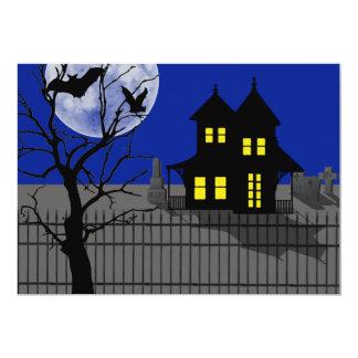 """Halloween frecuentó la propiedad invitación 5"""" x 7"""""""