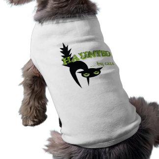 Halloween frecuentó por los gatos camisetas de perro