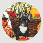 Halloween French Bulldog Classic Round Sticker