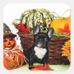 Halloween French bulldog stickers