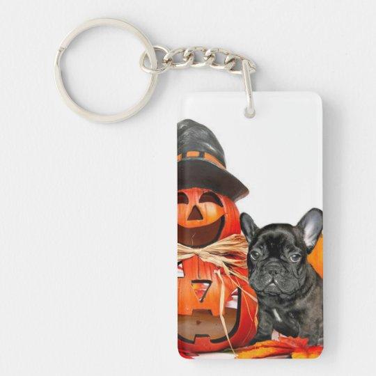 Halloween French Bulldogs Keychain