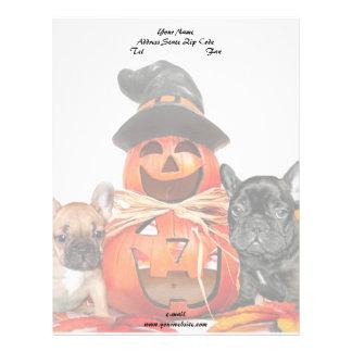 Halloween French Bulldogs Letterhead
