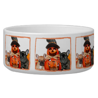 Halloween French Bulldogs Pet Bowl