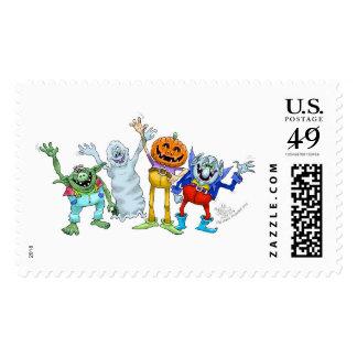 Halloween friends. postage