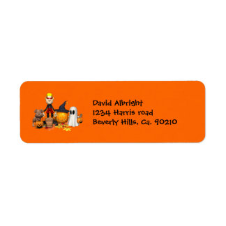 Halloween Friends Trick Or Treating Label