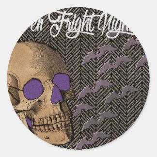 Halloween Fright Night Classic Round Sticker