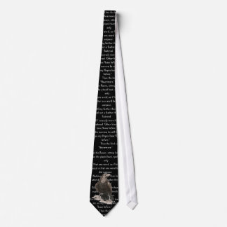 Halloween Fright Night Edgar Allen Poe Raven Poem Tie