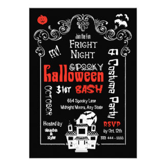 Halloween Fright Night Party Invitation- Groupon