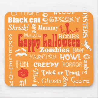 Halloween Fright Night Topography Mouse Pad