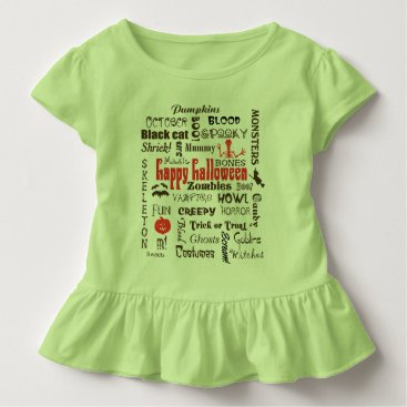 Halloween Themed Halloween Fright Night Typography Toddler T-shirt