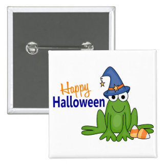 Halloween Frog 2 Inch Square Button