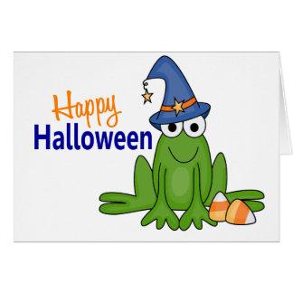 Halloween Frog Card