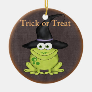 Halloween Frog Ceramic Ornament