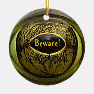 Halloween Frog Eye Double-Sided Ceramic Round Christmas Ornament