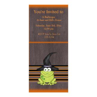 Halloween Frog Rack Card