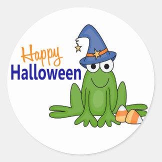 Halloween Frog Round Sticker