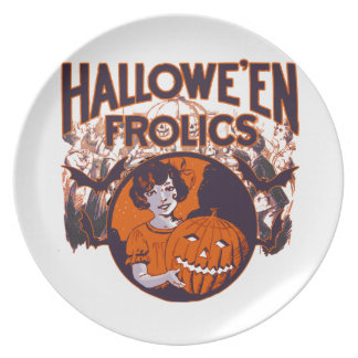 Halloween Frolic vintage Party Plate