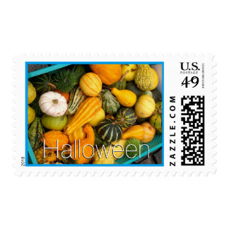 Halloween from the garden postage