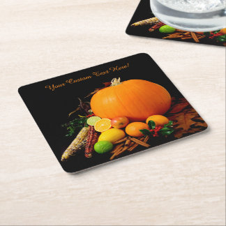 Halloween Fruits custom coasters Square Paper Coaster