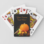 """Halloween Fruits custom playing cards<br><div class=""""desc"""">Change the text field to what you want. See my store for more items with this image.</div>"""