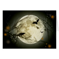 Halloween Full Moon Card at Zazzle