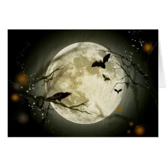 Halloween Full Moon Card
