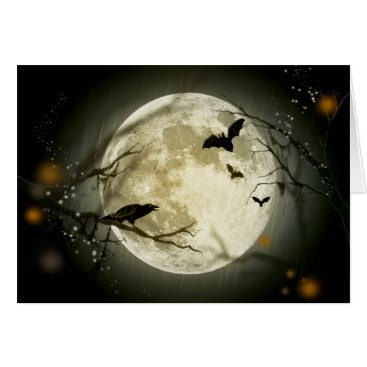 Halloween Themed Halloween Full Moon Card