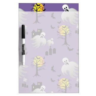 Halloween Full Moon Ghosts on Purple Dry-Erase Whiteboards