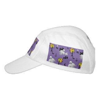 Halloween Full Moon Ghosts on Purple Headsweats Hat