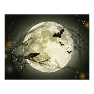 Halloween Full Moon Invitation