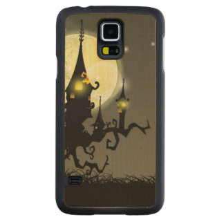 Halloween full moon night background carved maple galaxy s5 case