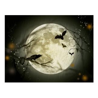 Halloween Full Moon Postcard