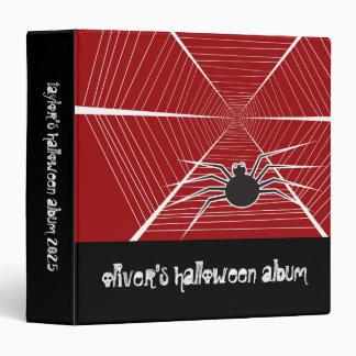Halloween Fun Spider Web Children Custom Binder