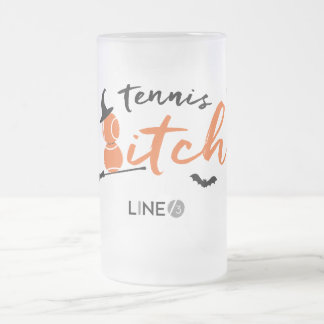 Halloween fun!  Tennis Witch Style. Frosted Glass Beer Mug