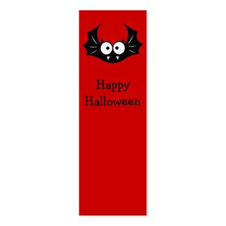 Halloween funny bat bookmark mini business card