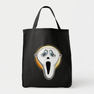 Halloween Funny Ghost Face Emoji Mask Tote Bag