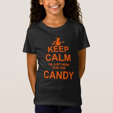 Halloween Themed Halloween Funny Keep Calm Candy Witch T-shirt