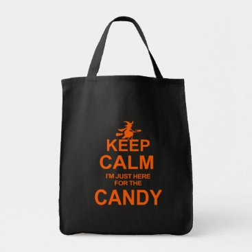 Halloween Themed Halloween Funny Keep Calm Candy Witch Tote Bag